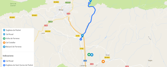 Route greenway Cal Rosal to Pedret